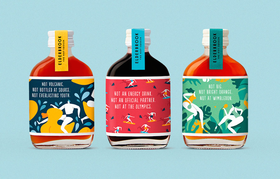 Pop & Colorful Branding for Elderbrook Drinks (6 pics)
