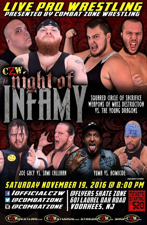 Post image of CZW Night Of Infamy 2016