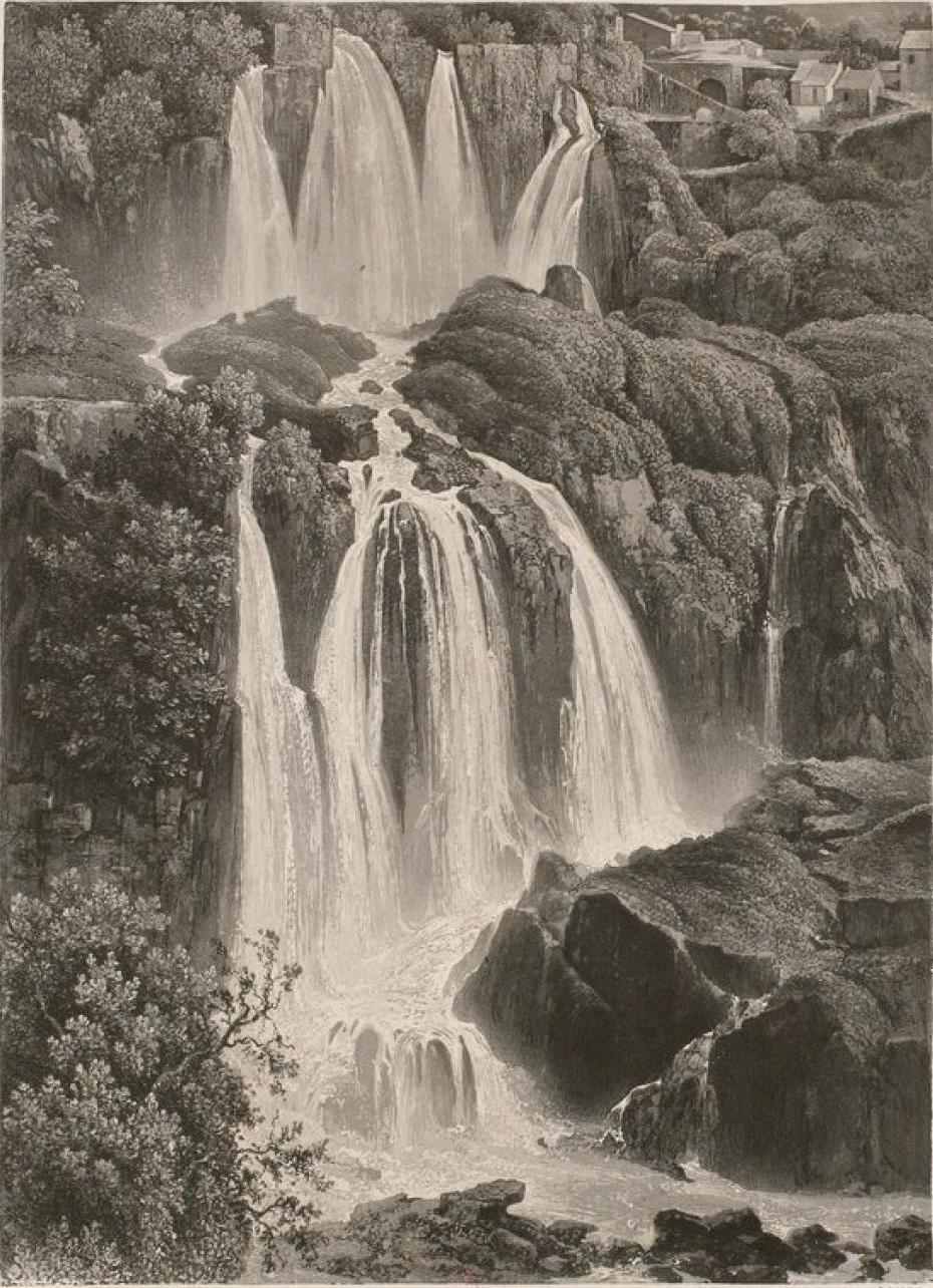 Италия. Тиволи. Большой водопад