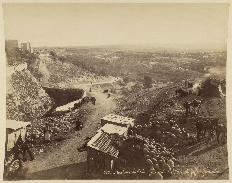 Дорога на Вифлеем, вид от Яффских ворот