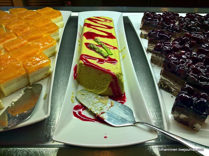 паромах Finnlines восхитительный десерт из спаржи