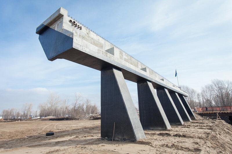 Ход строительства Фрунзенского моста март 2016