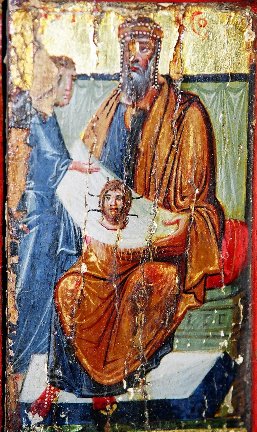 Анания передает Святой Убрус царю Авгару.