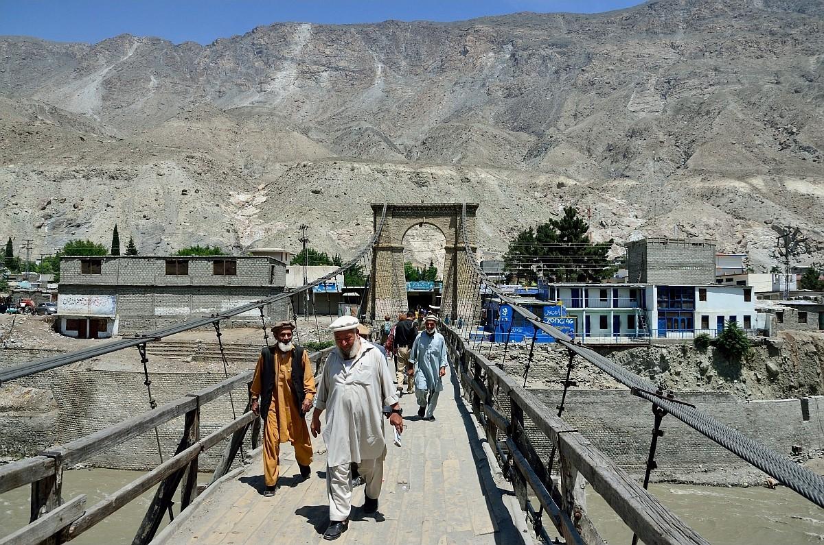 По улицам ходили одни мужики в традиционных одеждах.