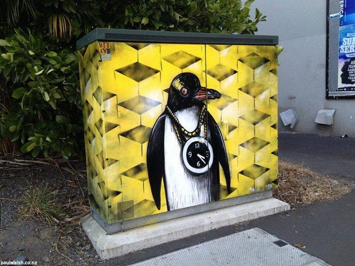 Распределительные ящики в качестве полотен для граффити