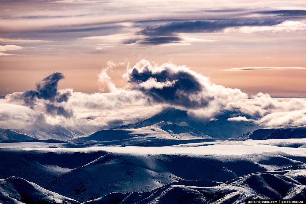 Север Камчатки с высоты