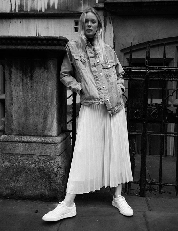turtleneck Miss Selfridge jacket and skirt Topshopshoes Puma