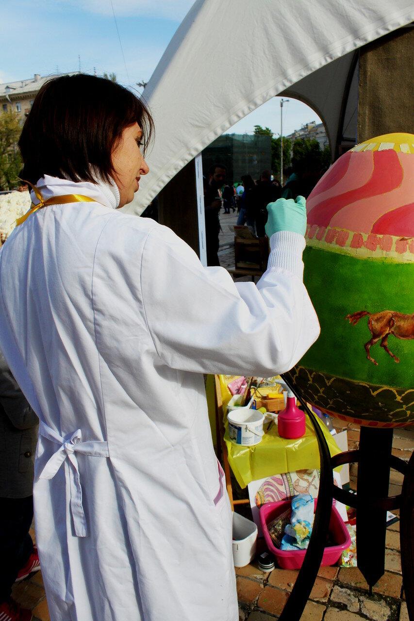 Мастер-класс росписи пасхального яйца