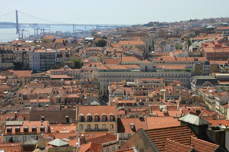 Лиссабон, вид из замка Святого Георгия (Lisbon, view from the St. George's Castle)