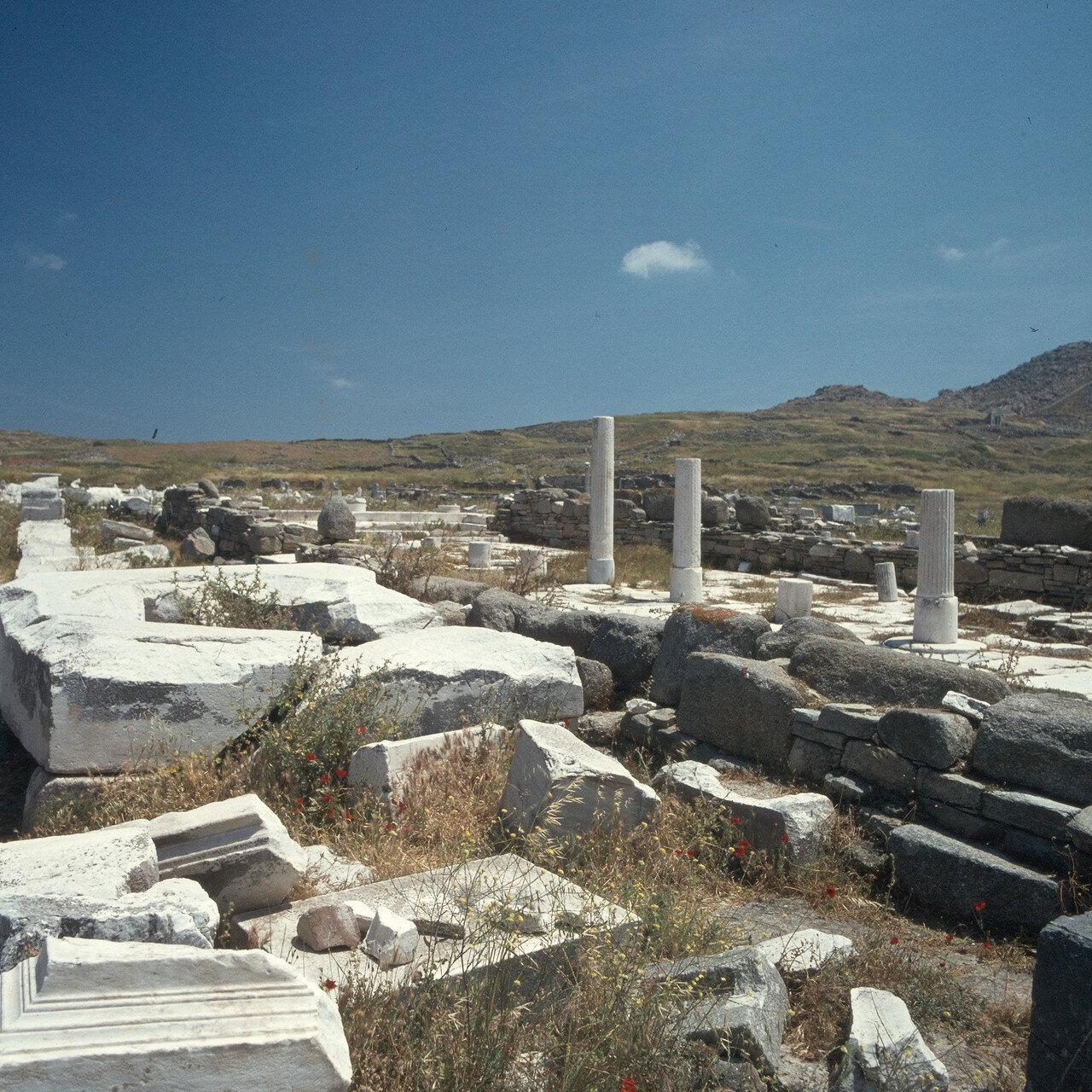 Делос. Руины колонн. VI в. до н.э.