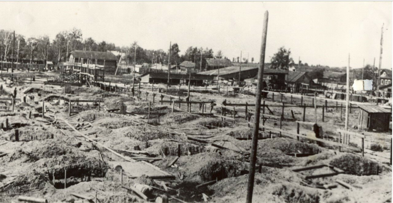 Село Иваново. Строительство первых корпусов завода. 1916