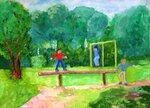 """Головяшкин Тимофей (рук. Стрикулистова Лидия Константиновна) - """"Летом в парке"""""""