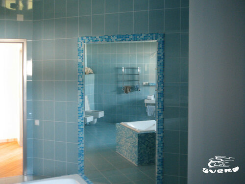 037. ванная комната, мозаика по зеркалу, интерьер
