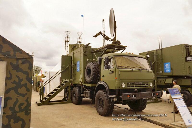Унифицированный мультирадарный модуль сьема радиолокационной информации ВИП-117М3. Форум Армия-2016, парк Патриот