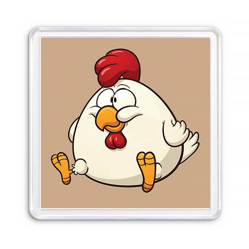 Сувенирный акриловый магнит Цыпленок