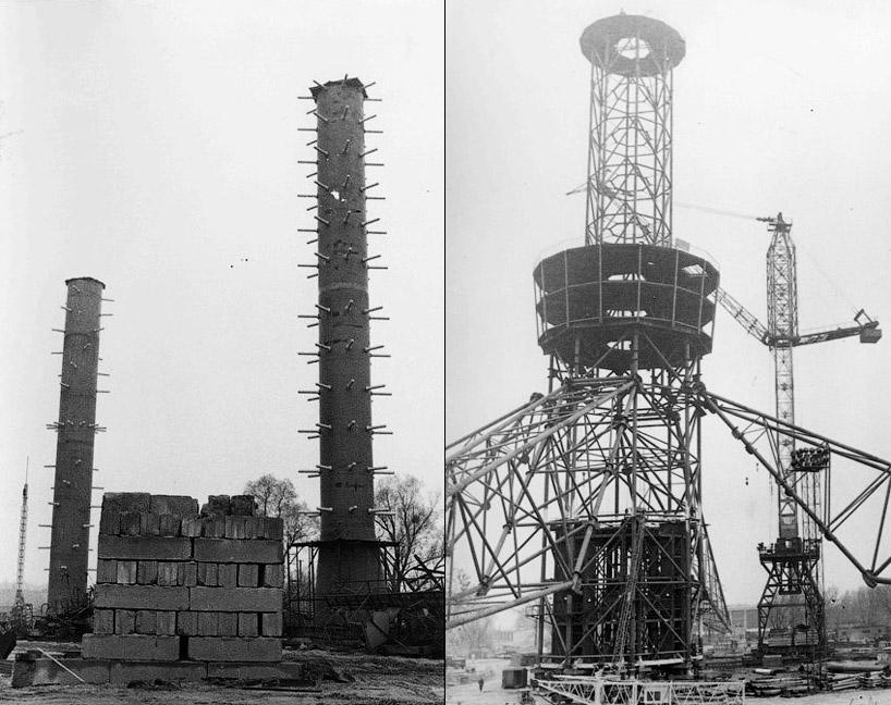 30 июля 1973 г. строительство башни было завершено. Уже 16 августа того же года новый радиотеле