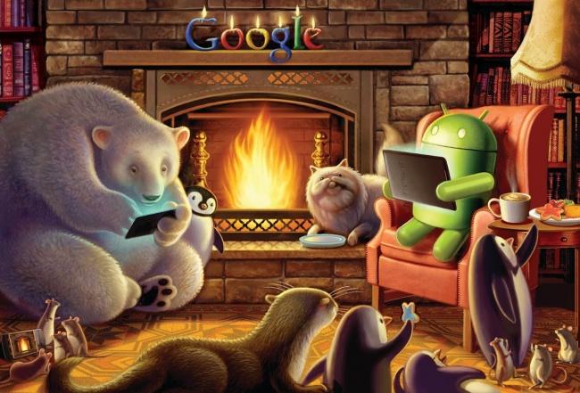 © wallpup  Вэтом году компания Google решила поздравить своих работников самым необычным идо