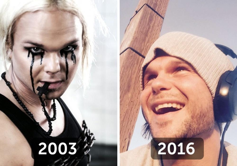 © The Rasmus/ Facebook  Тогда : Милый тролль спечальными глазами. Сейчас : Просто милый.