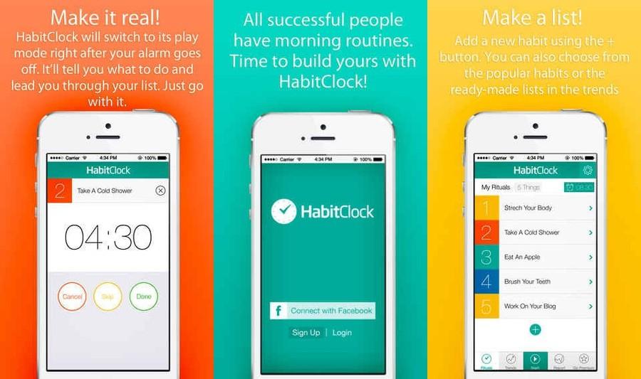 6. Веселый планировщик утра Приложение HabitClock — будильник-органайзер, который превращает рутинны