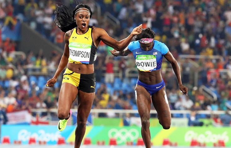 Элейн Томпсон завоевала золото вбеге на200 метров