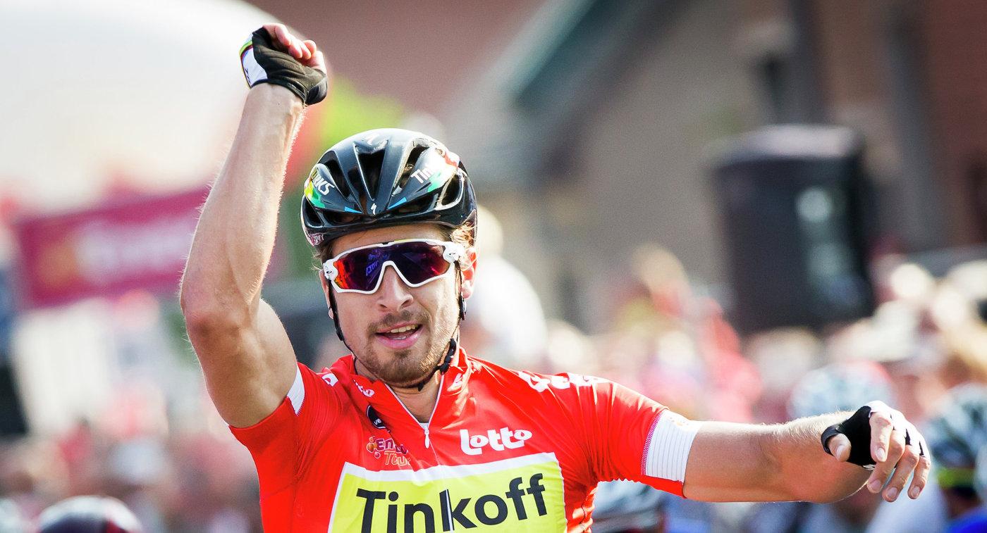 Словацкий велогонщик «Тинькофф» Саган стал лучшим порезультатам Мирового тура