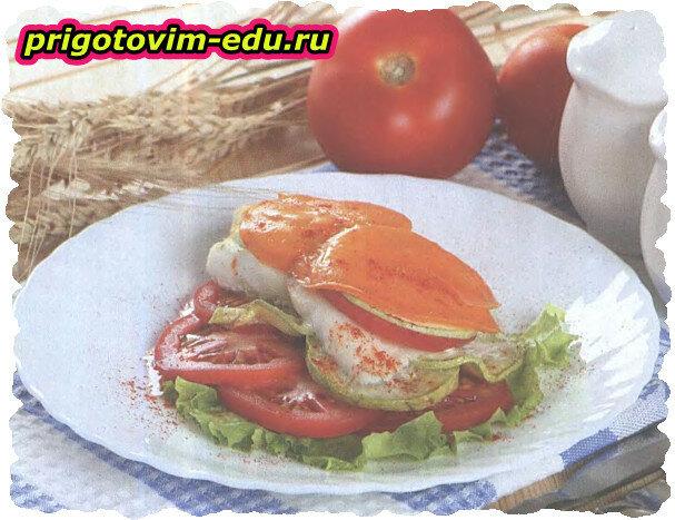 Рыбное филе под сырной корочкой