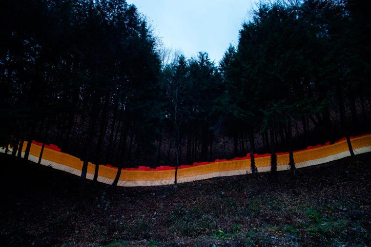 Visualizing the radiations of Chernobyl and Fukushima with light painting