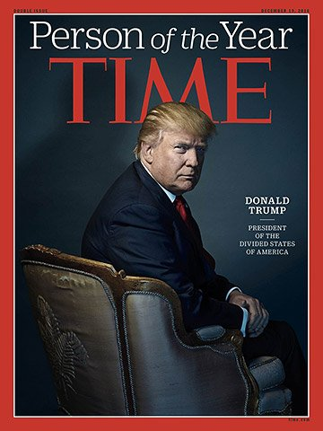 Журнал Time признал Дональда Трампа человеком года