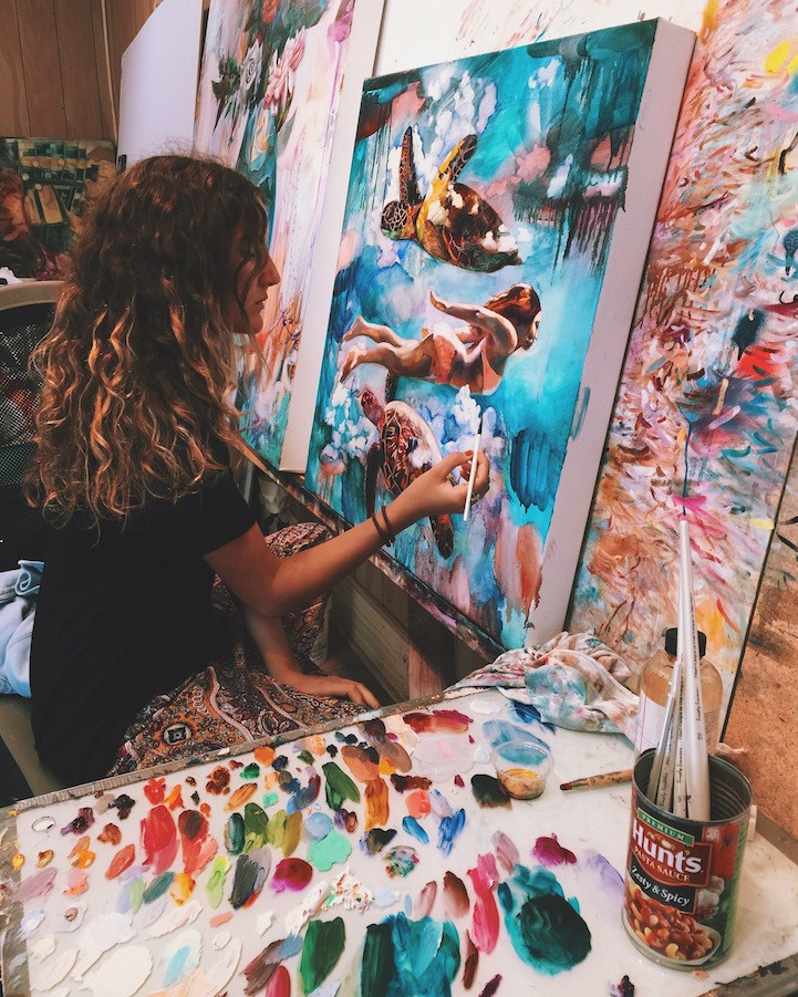 Vibrant paintings from the dreams of 16-year-old artist, Dimitra Milan