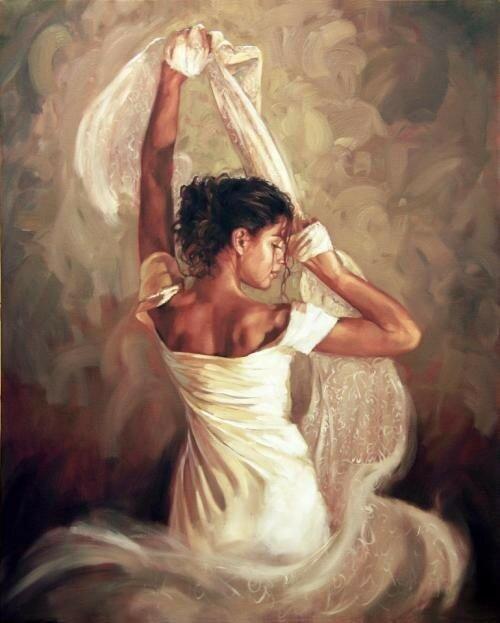 Вы в белом платье кружились по комнате... Художник из Англии Mark Spain