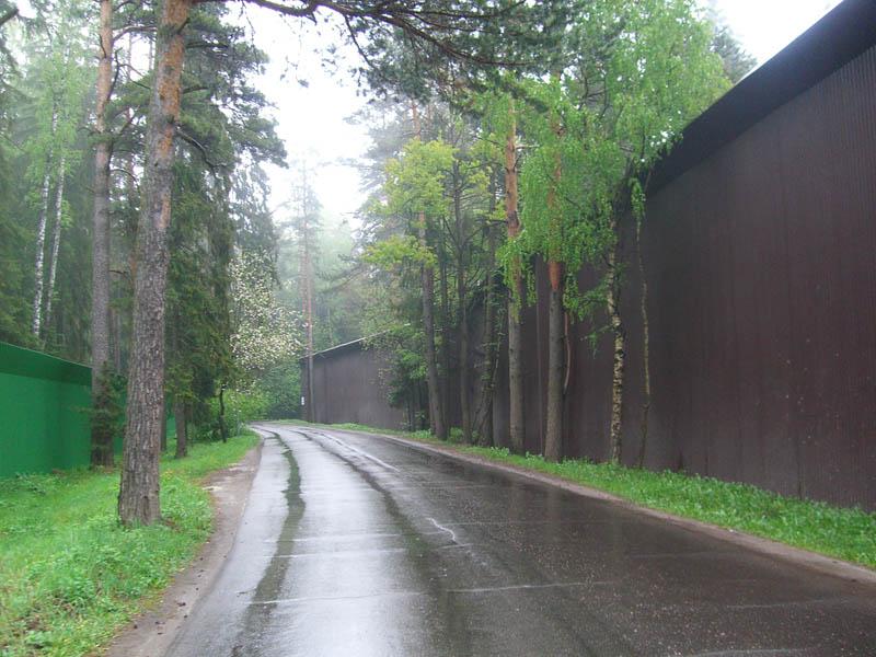 Заборы где-то на Рублевке