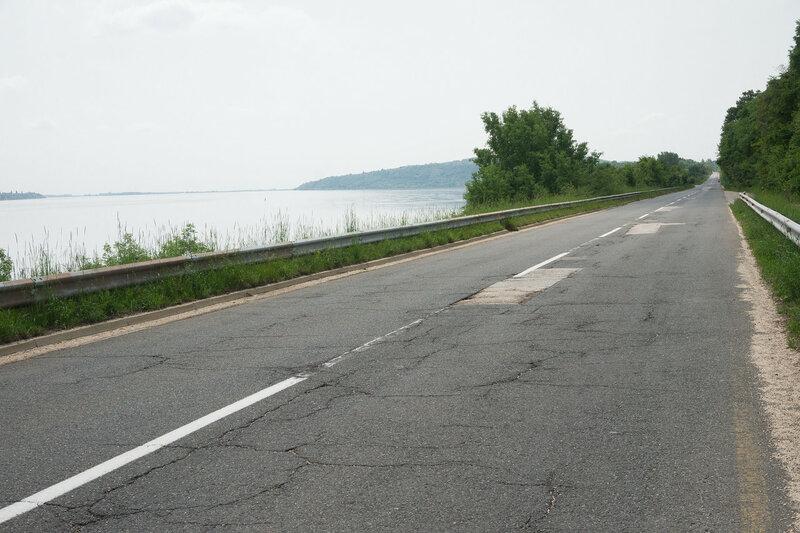 шоссе 35 вдоль дуная в сербии