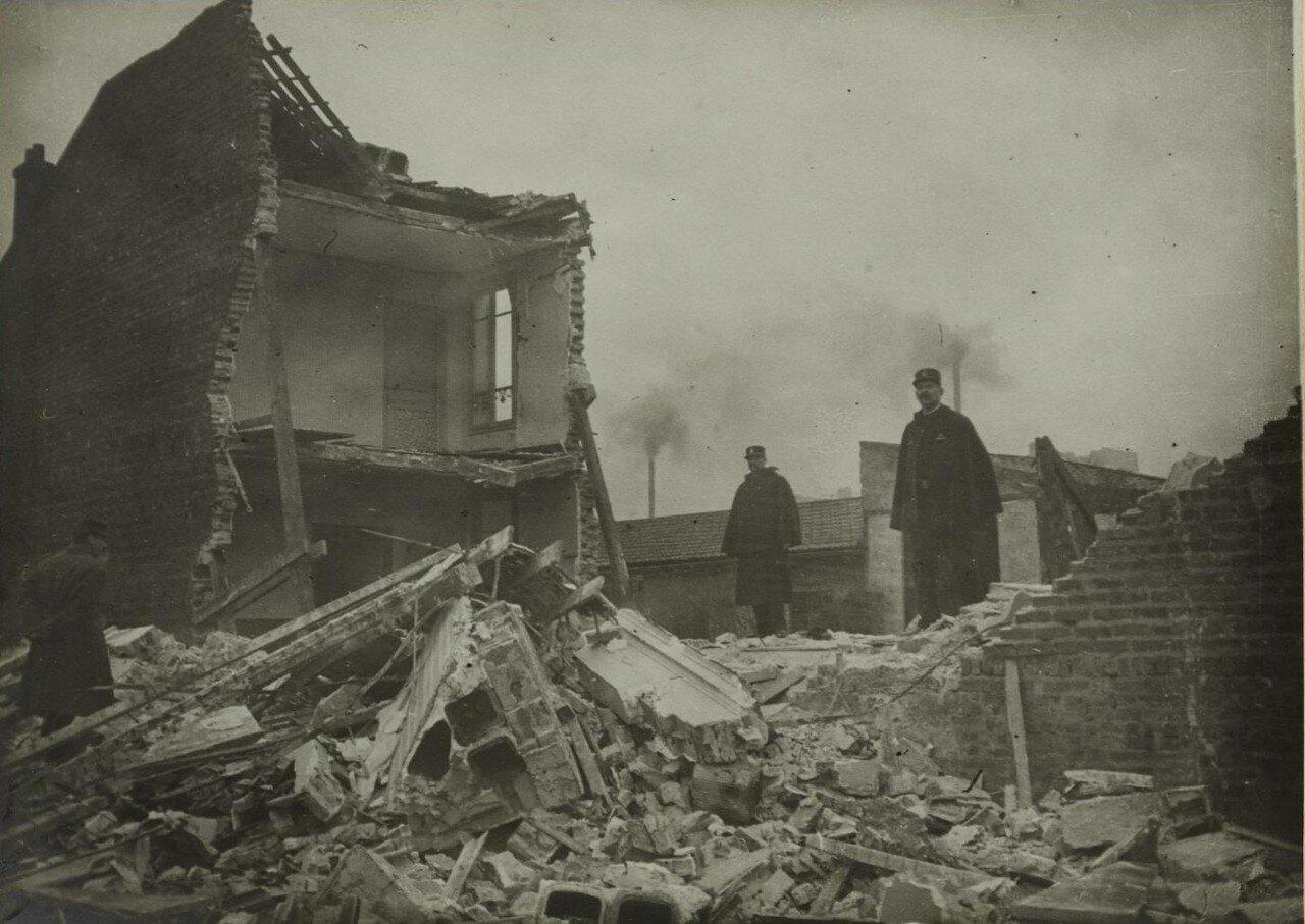 1916. 29 января. Урон, нанесенный атакой дирижабля. Улица Боррего