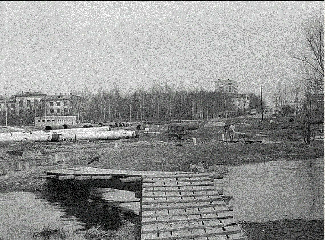 1980. Новомытищинский проспект. Конечная остановка автобуса №4
