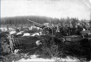 1921. Обстрел кронштадтских фортов курсовой батареей. Кронштадт