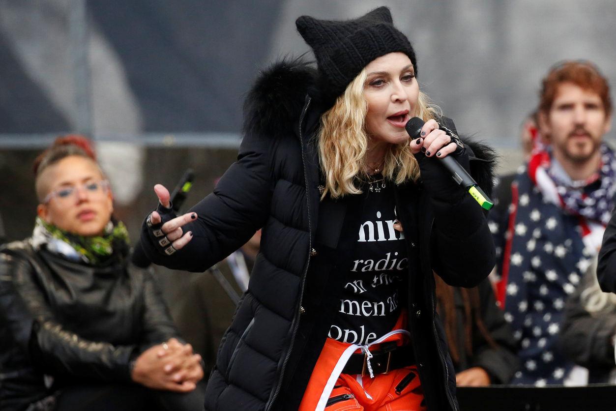 2017. Мадонна на сборище