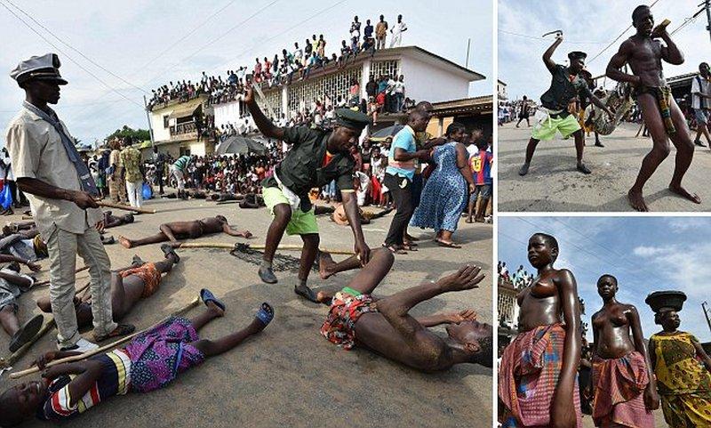 Воспоминания о рабстве: карнавал с жестокими сценами в  Кот-д'Ивуар