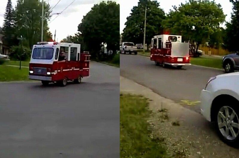 Самая маленькая пожарная машина в мире с лилипутами