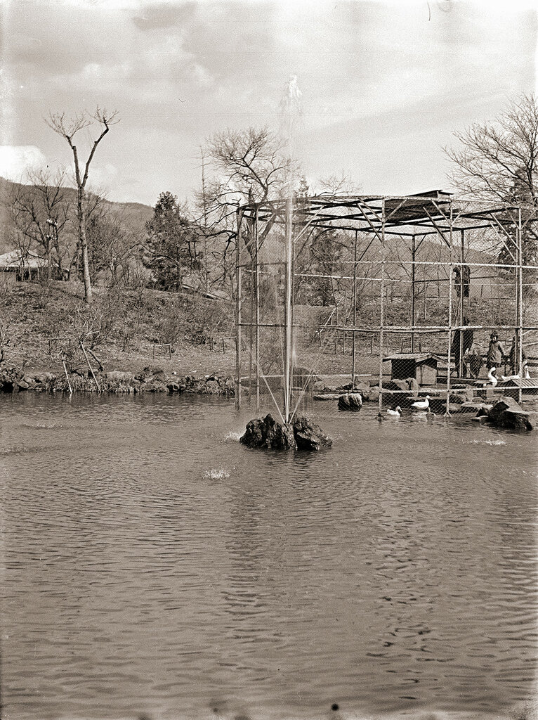 Bird Enclosure on Lake, 1930 Japan.