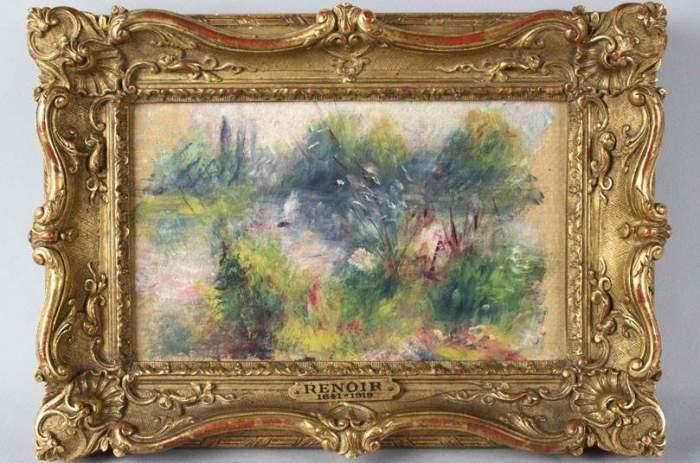 «Пейзаж на берегу Сены». Огюст Ренуар, 1879 год. В 2009 году некая американка купила на обычном блош