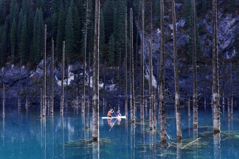 Озеро Каинды в Алматинской области образовалось в 1911 году после землетрясения, в результате
