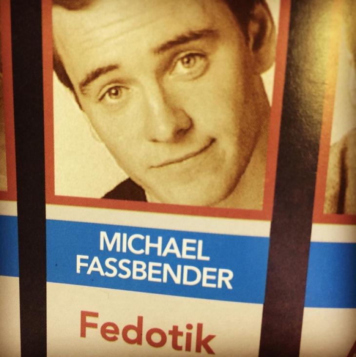 Майкл Фассбендер (молодой Магнето). Да-да, оказывается, он играл Федотика в чеховской постановке.