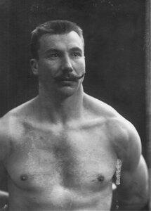 Портрет борца, участника чемпионата, И.Шемякина.
