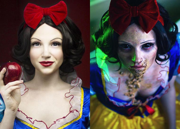 Glam Gore - When Disney Princesses are turned into zombies