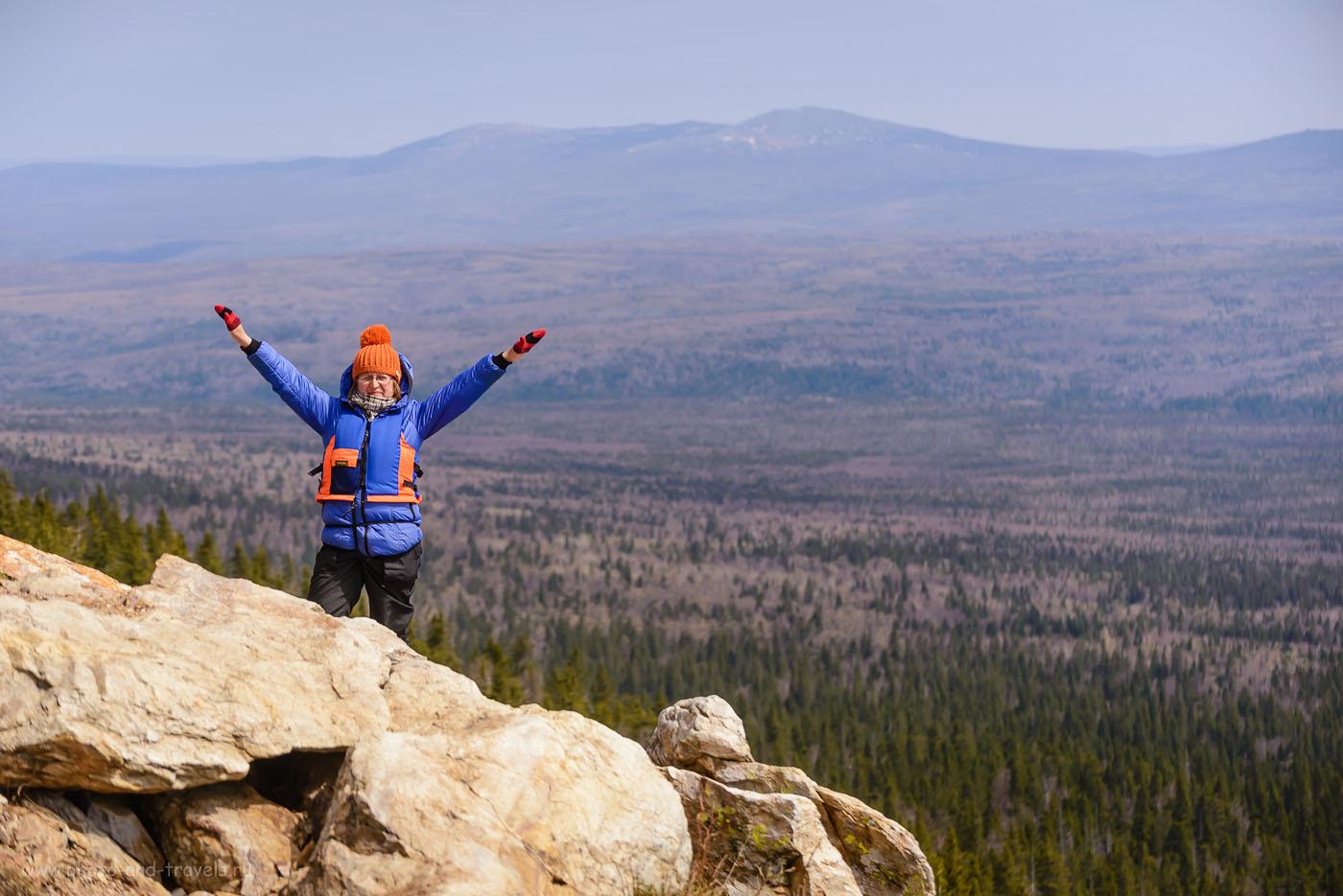 Фото 26. Фотосессия у вершины хребта Зюраткуль. Вот зачем нужно ехать в путешествие в Челябинскую область! 1/2500, 4.5, 400, 100.