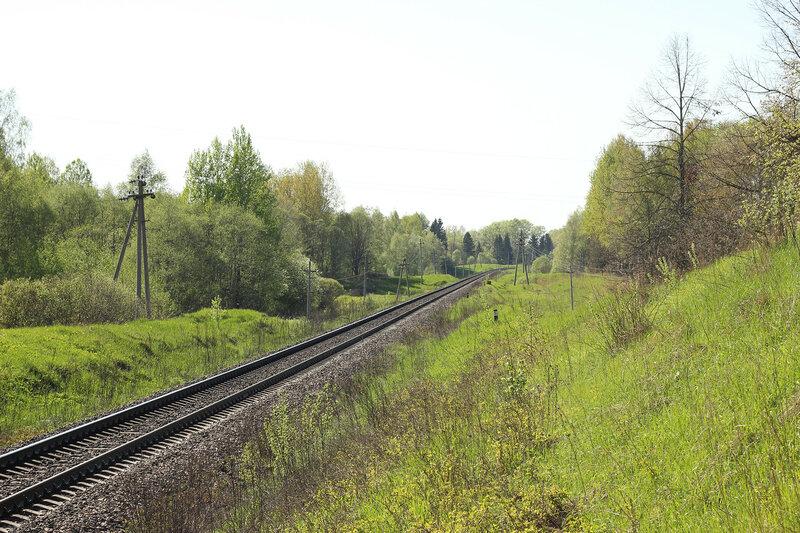 Перегон Артёмово-Кунья, вид на Великие луки