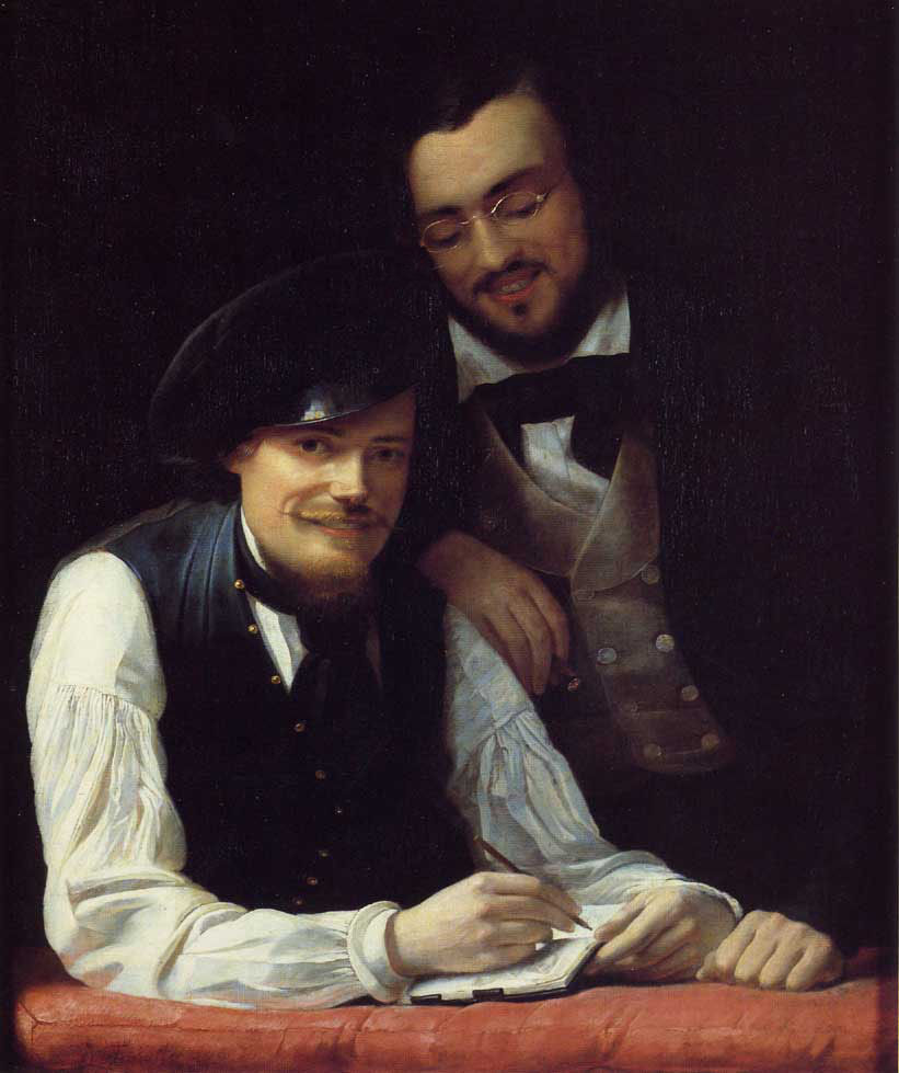 Self Portrait Artist With His Brother Hermann - Winterhalter Franz X.JPG