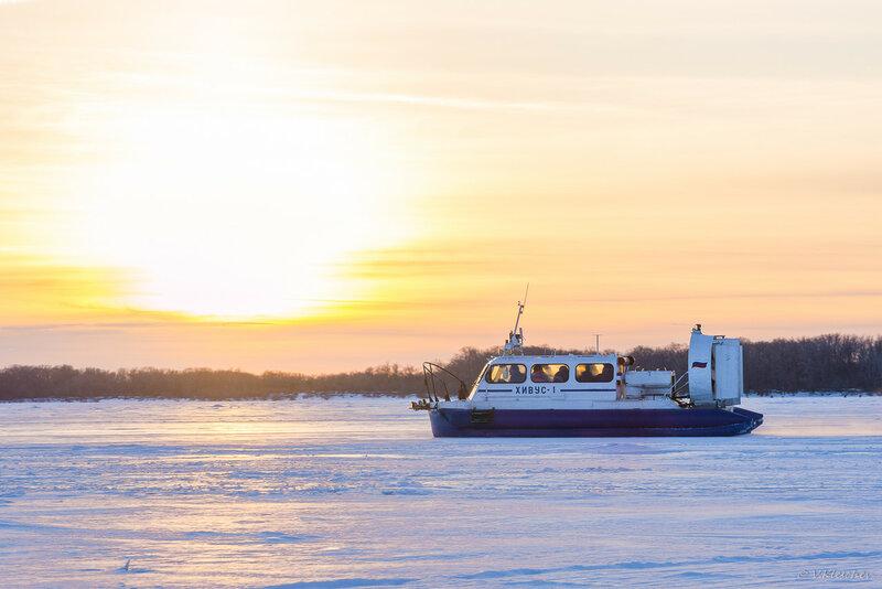 СВП Хивус-1 на маршруте Самара - Рождествено