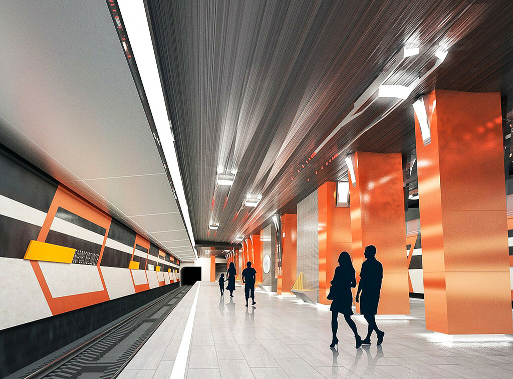 Визуализация платформы станции, Ленметрогипротранс
