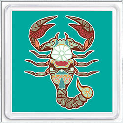 Магнит сувенирный Знак Зодиака Скорпион